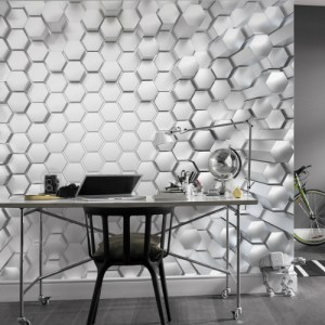 8-206 Brewster Wallcovering Komar Stories Titanium Wall Mural Room Setting