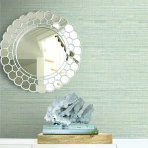 BV30444 Seabrook Wallcovering Beach House Coastal Hemp and MB30614 Beachgrass Wallpaper Room Setting
