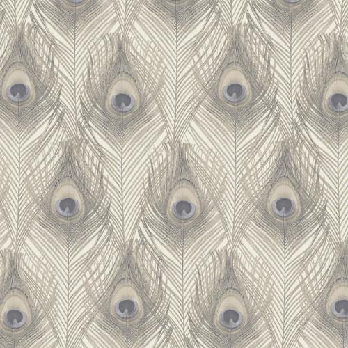 G67979 Norwall Patton Wallcovering Organic Textures Peacock Wallpaper Cream