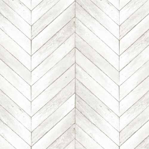 G68000 Norwall Patton Wallcovering Organic Texture Chevron Wood Wallpaper Ivory