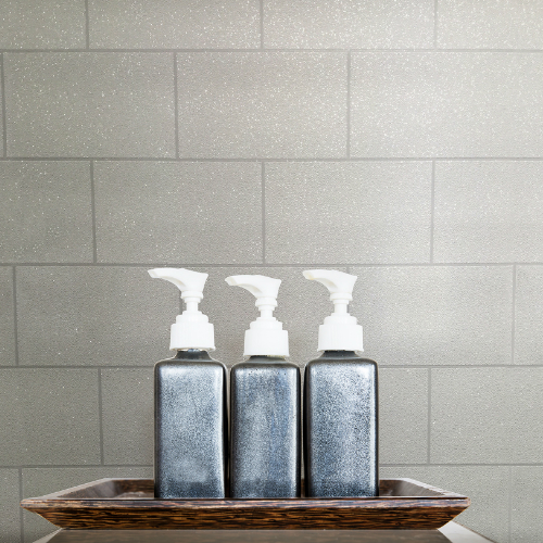 2814-M1054 Brewster Wallcovering Advantage Bath Neale Subway Tile Wallpaper White Room Setting
