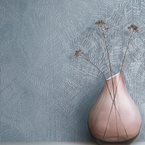 CO0515N York Wallcovering Candice Olson Terrain High Performance Aura Wallpaper Slate Room Setting
