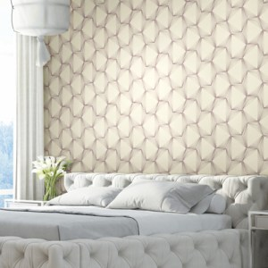 COD0536 York Wallcovering Candice Olson Terrain High Performance Qauntum Wallpaper Purple Room Setting