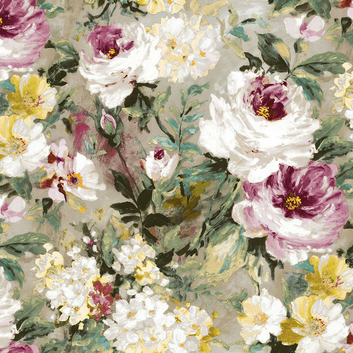 2835-SY5111P Brewster Wallcovering Advantage Deluxe Macau Painterly Floral Wallpaper Magenta