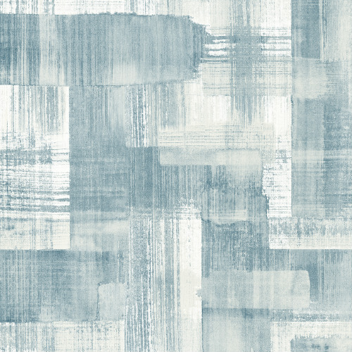2889-25226 Brewster Wallcovering A Street Prints Terence Conran Plain Simple Useful Trosa Brushstroke Wallpaper Teal