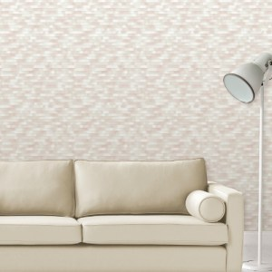 2889-25232 Brewster Wallcovering A Street Prints Terrance Conran Plain Simple Useful Kalmar Hazy Stripe Wallpaper Light Pink Room Setting
