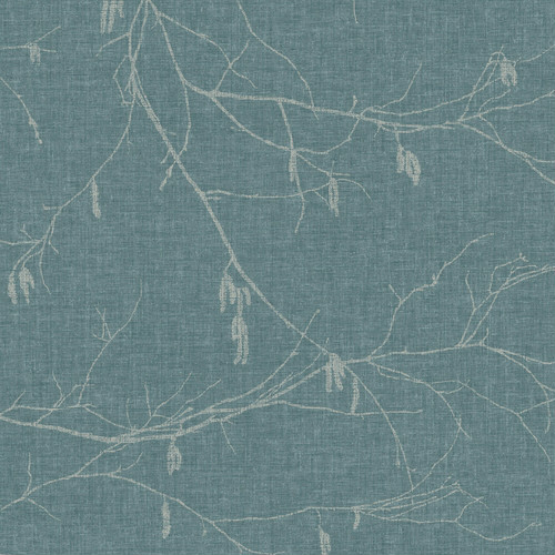 NR1527 York Wallcovering Norlander Winter Branches Wallpaper Blue