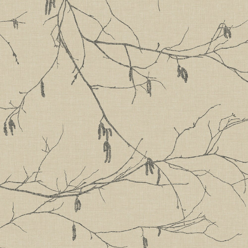 NR1528 York Wallcovering Norlander Winter Branches Wallpaper Beige