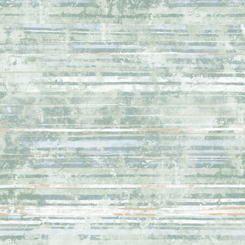 2838-IH2256 Brewster Wallcovering Decorline Vista Makayla Distressed Stripe Wallpaper Sea Green