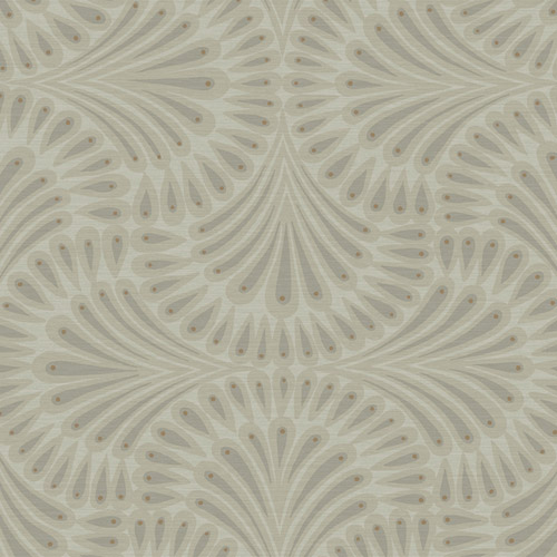 CA1500 York Wallcovering Antonina Vella Deco Cabaret Wallpaper Taupe