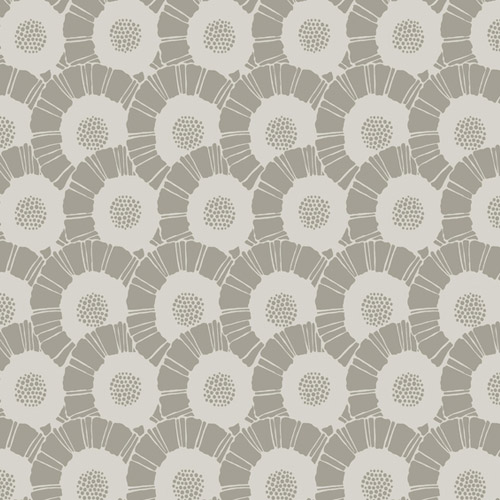 CA1557 York Wallcovering Antonina Vella Deco Coco Bloom Wallpaper Taupe