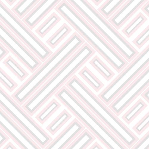 GX37601 Patton Wallcovering Norwall GeometriX Rectangles Wallpaper Pink