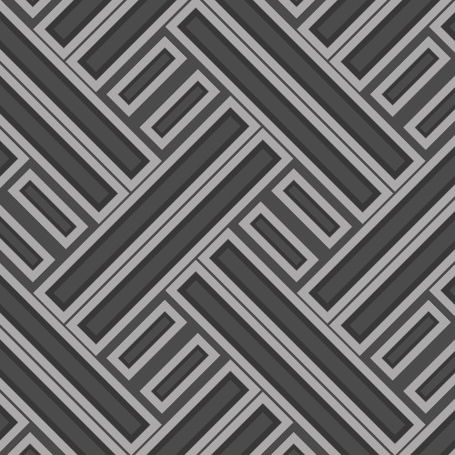 GX37603 Patton Wallcovering Norwall GeometriX Rectangles Wallpaper Black