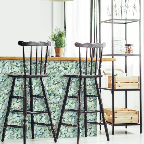 RMK11192WP York Wallcovering RoomMates Hydrangea Peel and Stick Wallpaper Kitchen Island