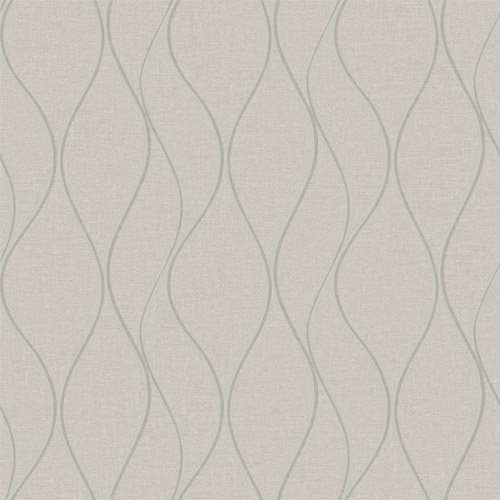 RMK11292WP York Wallcovering RoomMates Wave Ogee Peel and Stick Wallpaper Beige