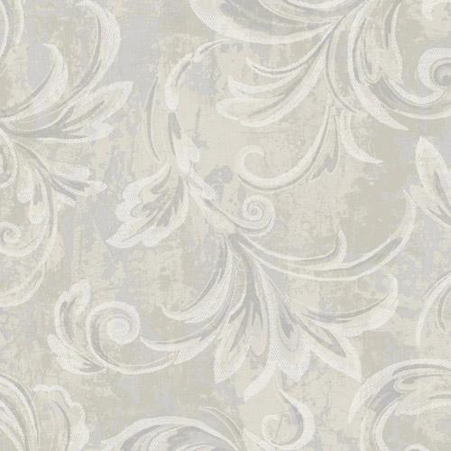 2010108 Seabrook Wallcovering Etten Gallerie Aura Acanthus Wallpaper Greige