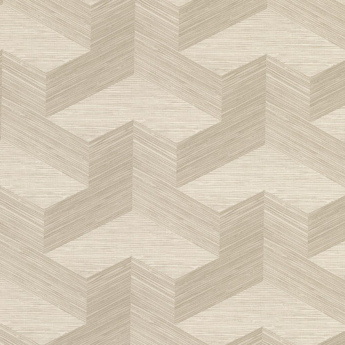 2829-82057 Brewster Wallcovering A Street Prints Fibers Y Knot Geometric Texture Wallpaper Neutral