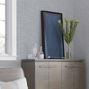 2829-82065 Brewster Wallcovering A Street Prints Fibers In The Loop Faux Grasscloth Wallpaper Multi-Color Room Setting