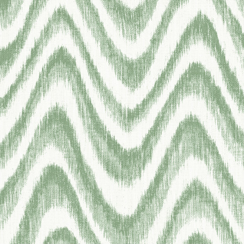 2901-25406 Brewster Wallcovering A Street Prints Perennial Bargello Faux Grasscloth Wave Wallpaper Green