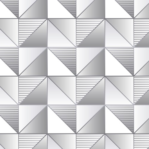 GX37630 Patton Wallcovering Norwall GeometriX Cubist Wallpaper Silver