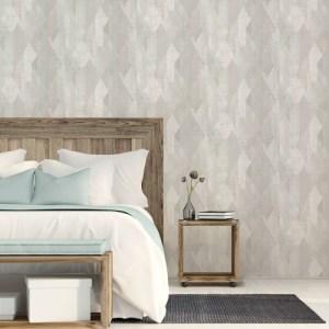 GX37638 Patton Wallcovering Norwall GeometriX Glass Shards Wallpaper Mint Room Setting