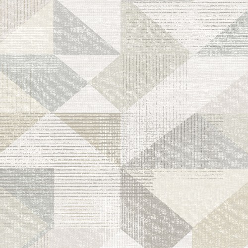 GX37651 Patton Wallcovering Norwall GeometriX Silk Screen Geometric Wallpaper Greige
