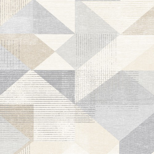 GX37655 Patton Wallcovering Norwall GeometriX Silk Screen Geometric Wallpaper Grey