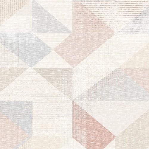 GX37656 Patton Wallcovering Norwall GeometriX Silk Screen Geometric Wallpaper Pink