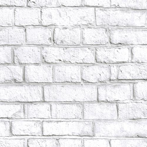 RMK11237WP York Wallcovering RoomMates White Brick Peel and Stick Wallpaper