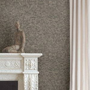 2908-24919 Brewster Wallcovering A Street Prints Alchemy Belvedere Faux Slate Wallpaper Taupe Room Setting