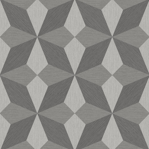 2908-25300 Brewster Wallcovering A Street Prints Alchemy Valiant Faux Grasscloth Geoemtric Wallpaper Grey