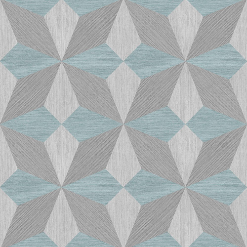 2908-25304 Brewster Wallcovering A Street Prints Alchemy Valiant Faux Grasscloth Geometric Wallpaper Aqua