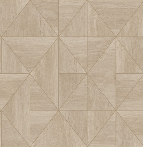 2908-25323 Brewster Wallcovering A Street Prints Alchemy Cheverny Geometric Wood Wallpaper Beige