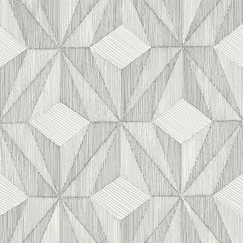 2908-87102 Brewster Wallcovering A Street Prints Alchemy Paragon Geometric Wallpaper Silver