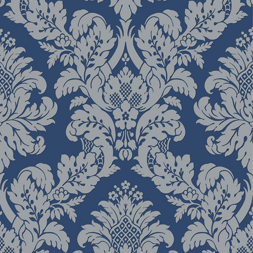UK10457 Seabrook Wallcovering Pear Tree Studio Shimmer Glitter Damask Wallpaper Blue