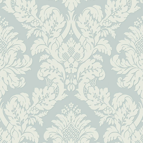UK10482 Seabrook Wallcovering Pear Tree Studio Shimmer Glitter Damask Wallpaper Aqua