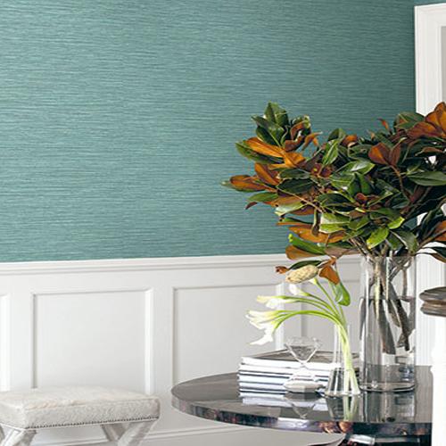 BV30114 Seabrook Wallcovering Texture Gallery Grasslands Wallpaper Blue Stem Room Setting