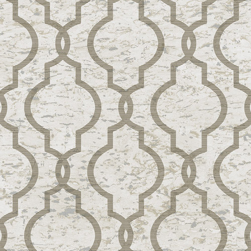 UK20930 Seabrook Wallcovering Pear Tree Studios Shimmer Faux Cork Trellis Wallpaper Beige