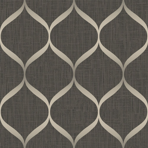 UK21206 Seabrook Wallcovering Pear Tree Studio Shimmer Trellis Ogee Wallpaper Brown