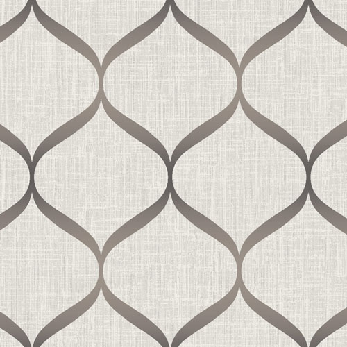 UK21216 Seabrook Wallcovering Pear Tree Studio Shimmer Trellis Ogee Wallpaper Khaki
