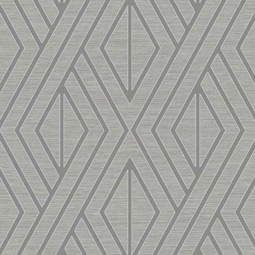 UK30507 Seabrook Wallcovering Pear Tree Studio Shimmer Abstract Diamond Wallpaper Grey