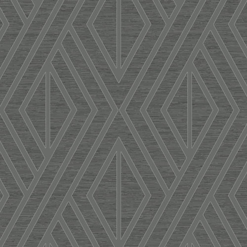 UK30508 Seabrook Wallcovering Pear Tree Studio Shimmer Abstract Diamond Wallpaper Charcoal