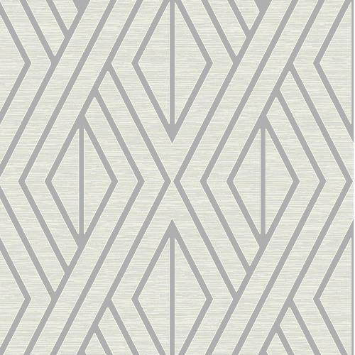 UK30509 Seabrook Wallcovering Pear Tree Studio Shimmer Abstract Diamond Wallpaper Silver
