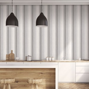 ST36921 Patton Wallcovering Norwall Simply Stripes 3 Random Stripe Wallpaper Black Room Setting