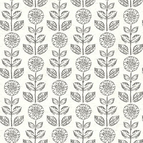 3119-13511 Brewster Wallcovering Chesapeake Kindred Dolly Floral Wallpaper Black
