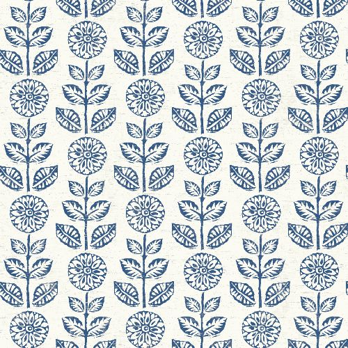 3119-13512 Brewster Wallcovering Chesapeake Kindred Dolly Floral Wallpaper Navy