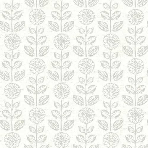 3119-13514 Brewster Wallcovering Chesapeake Kindred Dolly Floral Wallpaper Light Grey