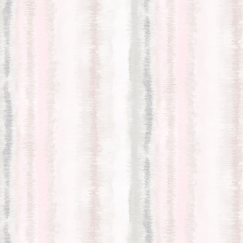 FW36809 Patton Wallcovering Norwall Fresh Watercolors Frequency Stripe Wallpaper Pink