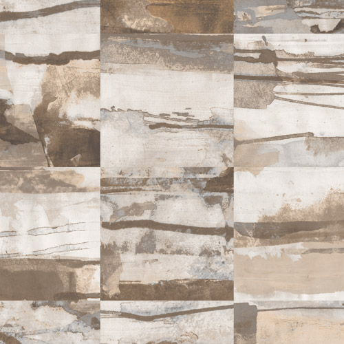 FW36814 Patton Wallcovering Norwall Fresh Watercolors Aquarelle Tile Wallpaper Beige
