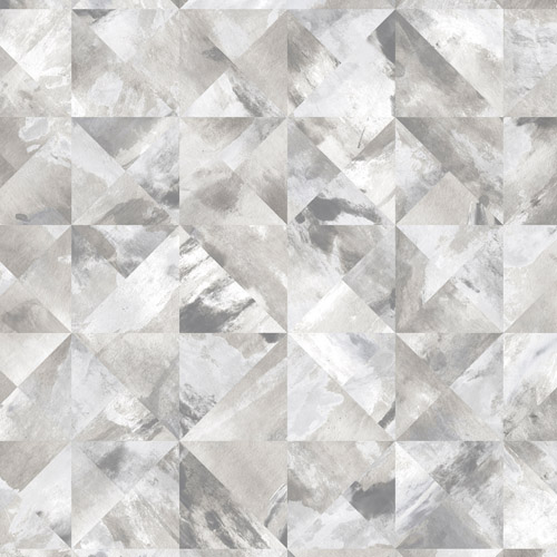 FW36818 Patton Wallcovering Norwall Fresh Watercolors Mosaic Wallpaper Grey